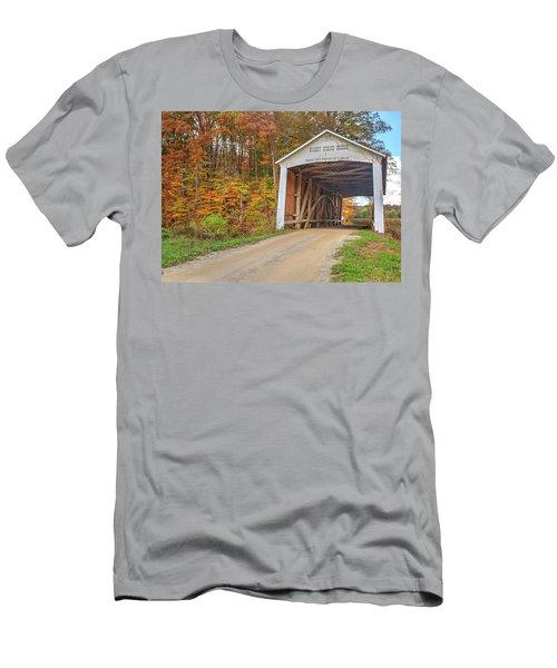 The Harry Evans Covered Bridge Men's T-Shirt (Slim Fit) by Harold Rau