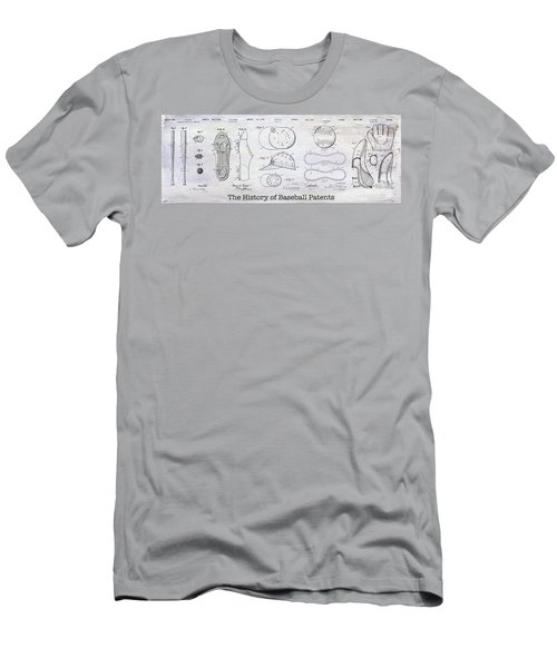 The History Of Baseball Patents Men's T-Shirt (Slim Fit) by Jon Neidert