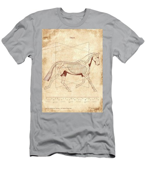 The Horse's Trot Revealed Men's T-Shirt (Slim Fit) by Catherine Twomey