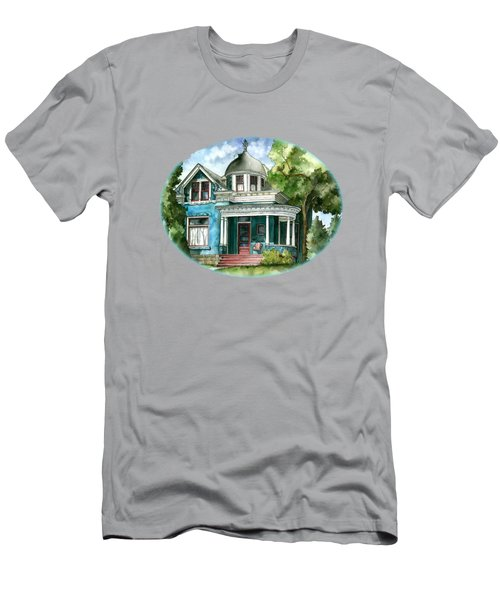 The House With Red Trim Men's T-Shirt (Athletic Fit)
