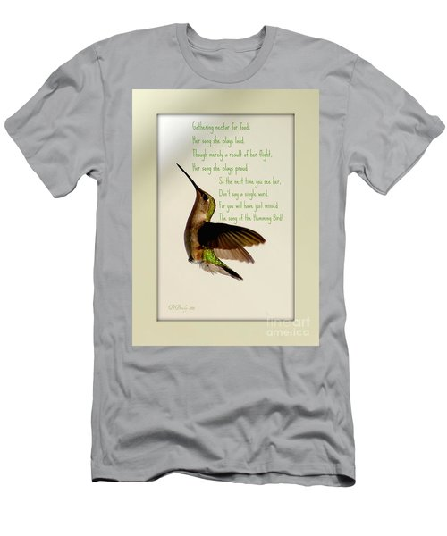 Men's T-Shirt (Athletic Fit) featuring the photograph The Hummingbird by Donna Bentley
