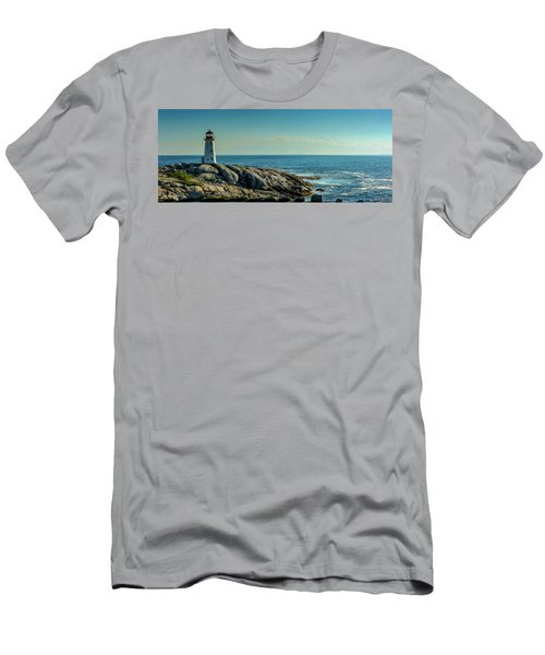 The Iconic Lighthouse At Peggys Cove Men's T-Shirt (Slim Fit) by Ken Morris