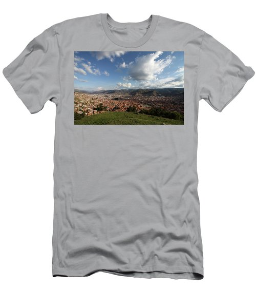 Men's T-Shirt (Slim Fit) featuring the photograph The Inca Capital Of Cusco by Aidan Moran
