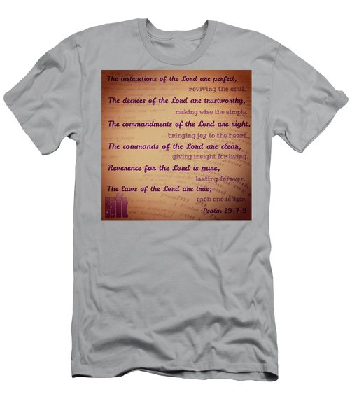 The Instructions Of The Lord Are Men's T-Shirt (Athletic Fit)