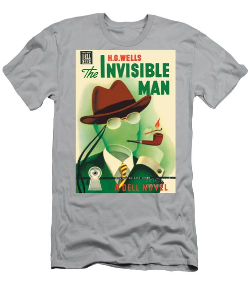 Men's T-Shirt (Slim Fit) featuring the painting The Invisible Man by Gerald Gregg