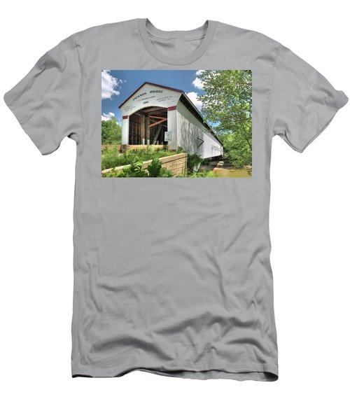 The Jackson Covered Bridge Men's T-Shirt (Slim Fit) by Harold Rau