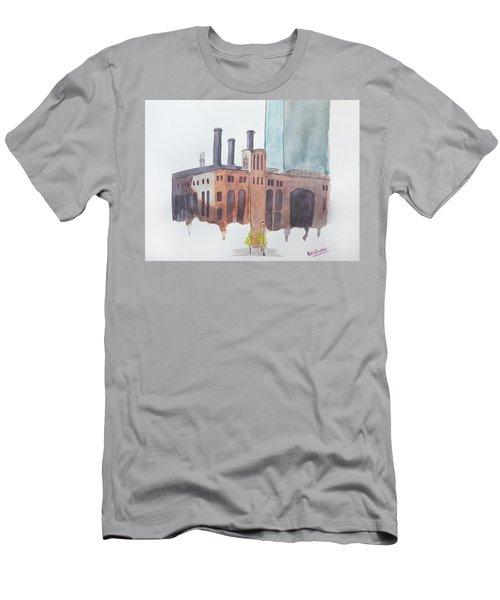 The Jersey City Powerhouse Men's T-Shirt (Slim Fit) by Keshava Shukla