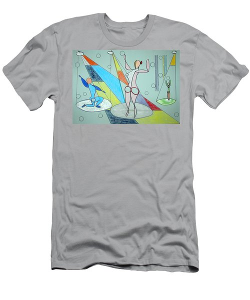 Men's T-Shirt (Slim Fit) featuring the drawing The Jugglers by J R Seymour