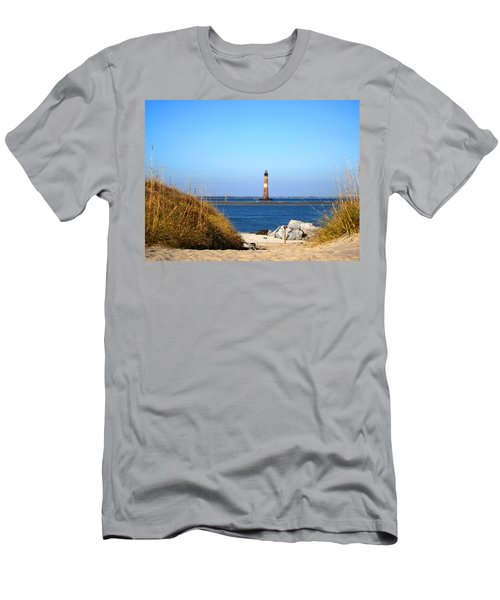 The Lighhouse At Morris Island Charleston Men's T-Shirt (Athletic Fit)