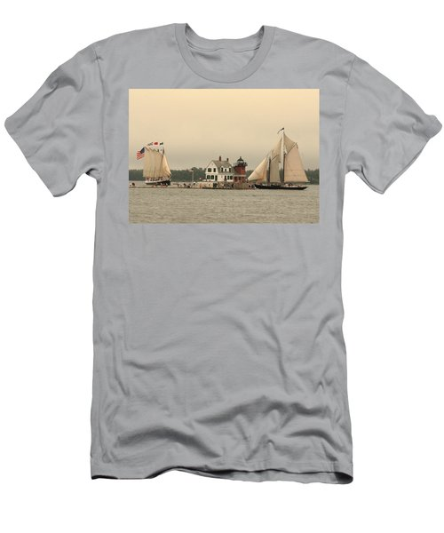 The Lighthouse At Rockland Men's T-Shirt (Athletic Fit)