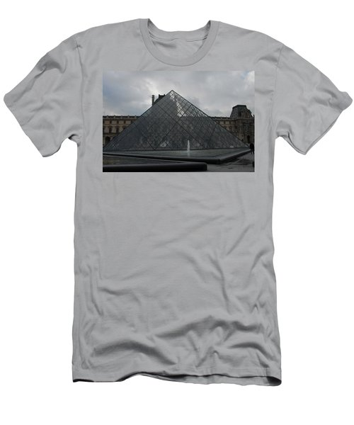The Louvre And I.m. Pei Men's T-Shirt (Athletic Fit)