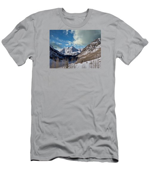The Maroon Bells Twin Peaks Just Outside Aspen Men's T-Shirt (Athletic Fit)