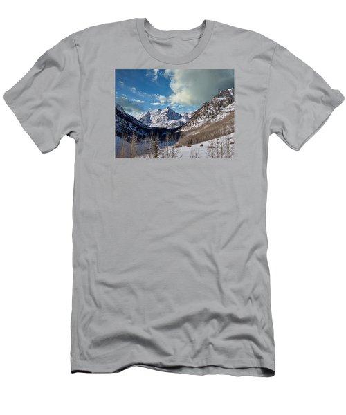 The Maroon Bells Twin Peaks Just Outside Aspen Men's T-Shirt (Athletic Fit)