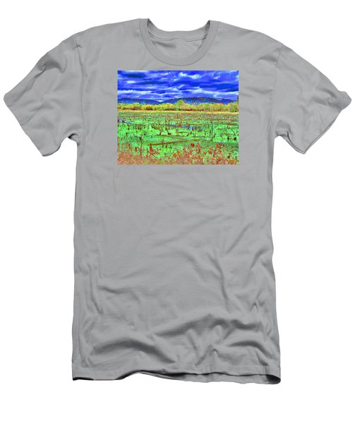 Men's T-Shirt (Slim Fit) featuring the photograph The Marshlands by B Wayne Mullins