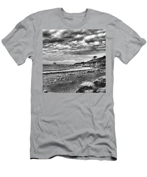 The Mewstone, Wembury Bay, Devon #view Men's T-Shirt (Slim Fit) by John Edwards