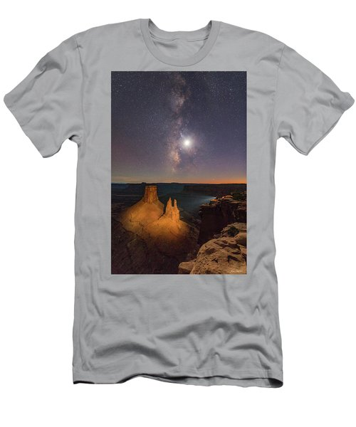 The Milky Way And The Moon From Marlboro Point Men's T-Shirt (Athletic Fit)