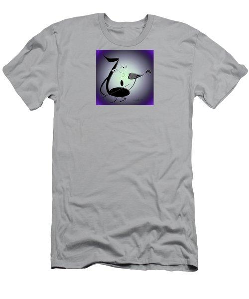 The Musician 29 Men's T-Shirt (Slim Fit) by Iris Gelbart