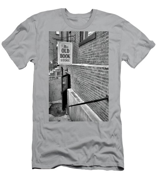 Men's T-Shirt (Slim Fit) featuring the photograph The Old Book Store by Karol Livote