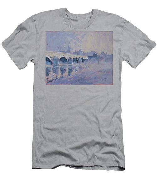 The Old Bridge In Morning Fog Maastricht Men's T-Shirt (Athletic Fit)