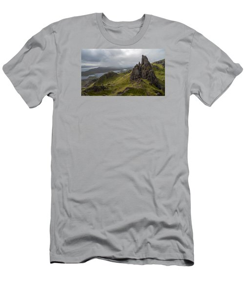 The Old Man Of Storr, Isle Of Skye, Uk Men's T-Shirt (Slim Fit) by Dubi Roman