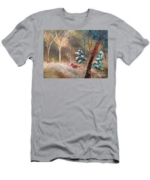 Men's T-Shirt (Athletic Fit) featuring the painting The Onion Snow by Denise Tomasura