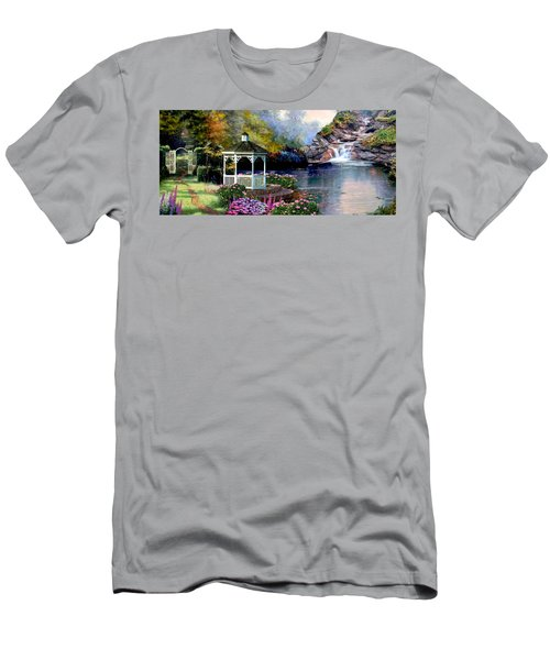 The Path Least Fallowed 2 Men's T-Shirt (Slim Fit) by Ron Chambers