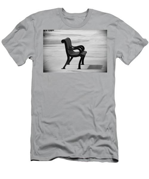 Men's T-Shirt (Athletic Fit) featuring the photograph The Pier Bench by Michael Hope