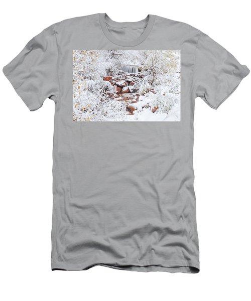 The Poetic Beauty Of Freshly Fallen Snow  Men's T-Shirt (Athletic Fit)