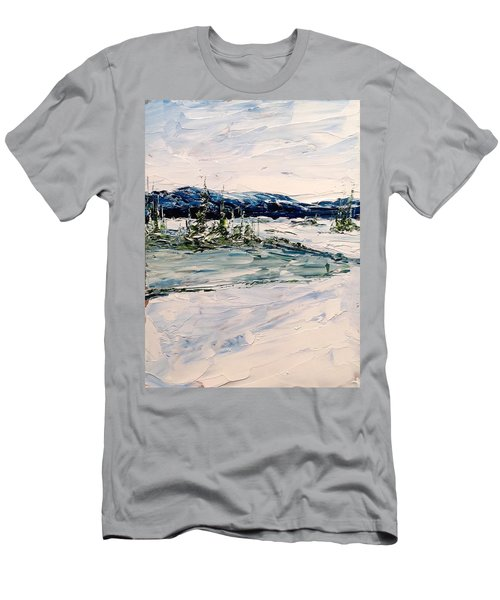 The Pond - Winter Men's T-Shirt (Athletic Fit)