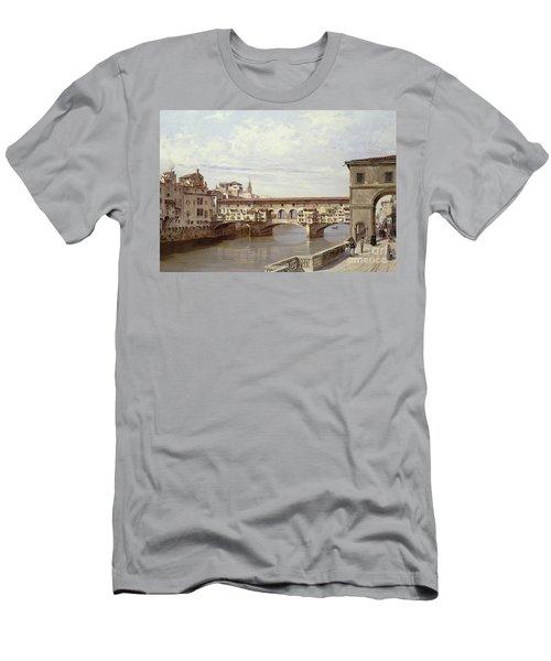 The Pontevecchio - Florence  Men's T-Shirt (Athletic Fit)