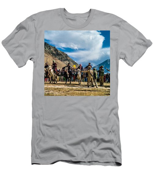 The Race, Zanskar, India Men's T-Shirt (Athletic Fit)