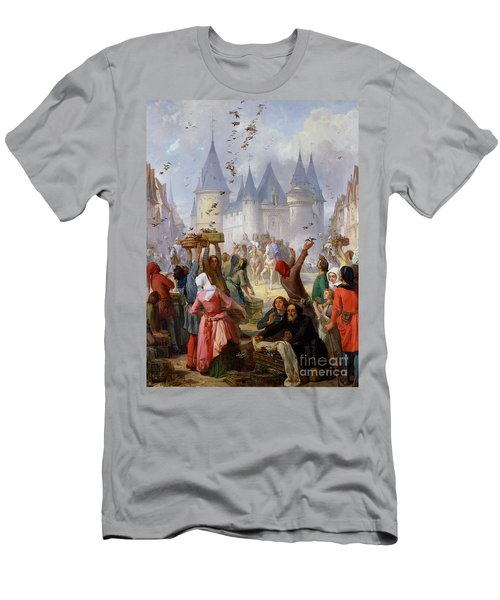 The Return Of Saint Louis Blanche Of Castille To Notre Dame Paris Men's T-Shirt (Athletic Fit)