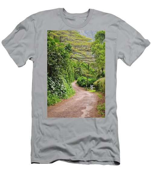 The Road Less Traveled-waipio Valley Hawaii Men's T-Shirt (Athletic Fit)