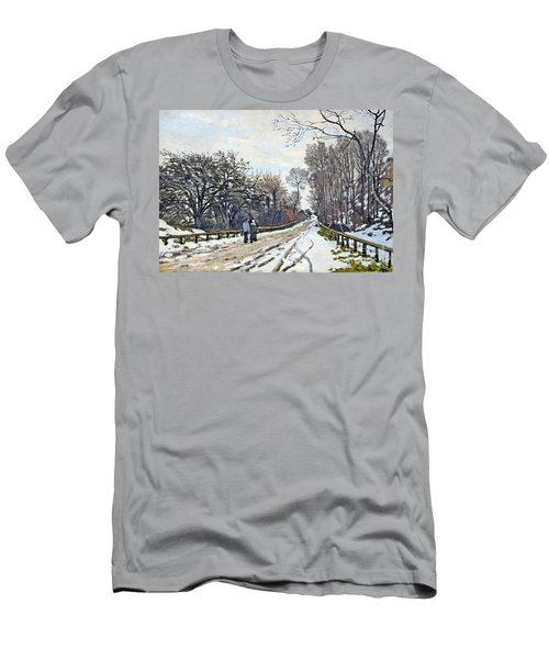 The Road To The Farm Of St. Simeon Men's T-Shirt (Slim Fit) by Monet