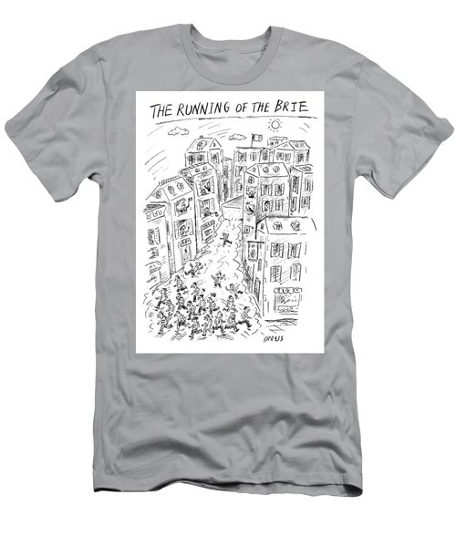 The Running Of The Brie Men's T-Shirt (Athletic Fit)