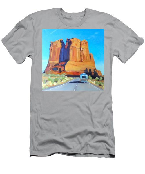 The Shadow Of The Three Gossips Arches Utah Men's T-Shirt (Athletic Fit)