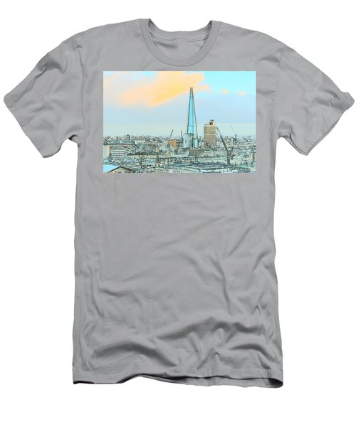 The Shard Outline Poster Men's T-Shirt (Athletic Fit)