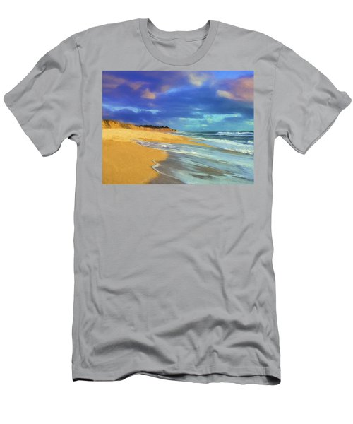 The Shoreline At Half Moon Bay Men's T-Shirt (Athletic Fit)