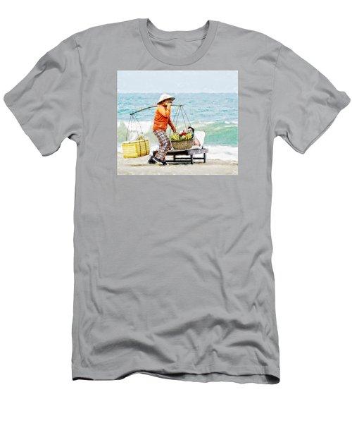The Smiling Vendor Men's T-Shirt (Slim Fit) by Cameron Wood