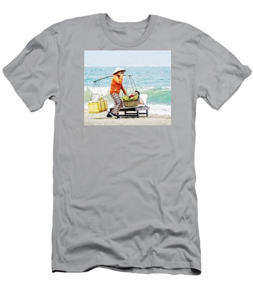 The Smiling Vendor Men's T-Shirt (Athletic Fit)
