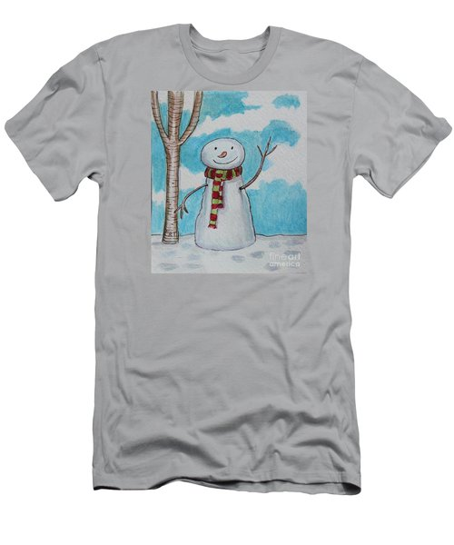 The Snowman Smile Men's T-Shirt (Slim Fit) by Elizabeth Robinette Tyndall
