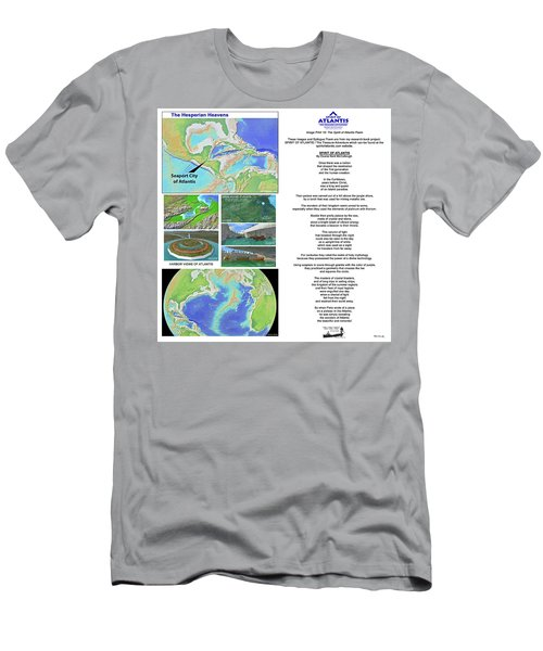 The Spirit Of Atlantis Poem Men's T-Shirt (Athletic Fit)