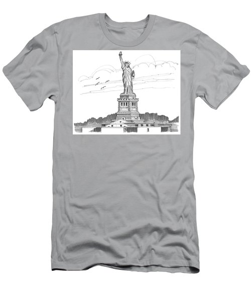 The Statue Of Liberty Lighthouse Men's T-Shirt (Athletic Fit)