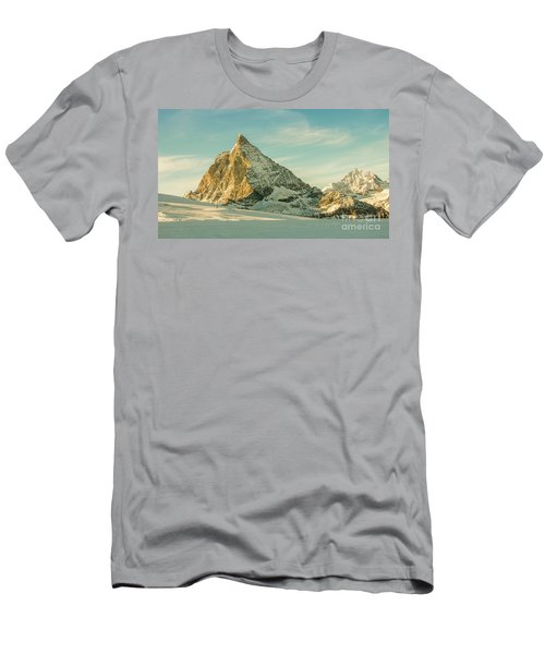 The Sun Sets Over The Matterhorn Men's T-Shirt (Athletic Fit)