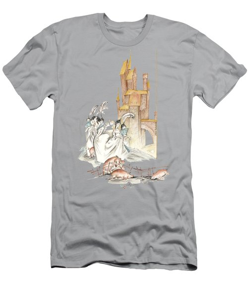 The Swineherd - Princess Giving 100 Kisses For Toys - Illustration For Classic Fairy Tale Men's T-Shirt (Athletic Fit)
