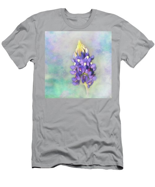 Men's T-Shirt (Slim Fit) featuring the photograph The Texas State Flower The Bluebonnet by David and Carol Kelly
