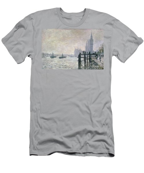 The Thames Below Westminster Men's T-Shirt (Athletic Fit)