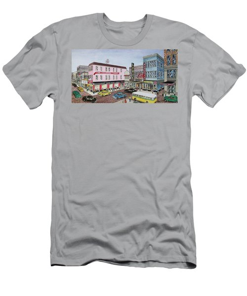 The Theater District Portsmouth Ohio 1948 Men's T-Shirt (Slim Fit) by Frank Hunter