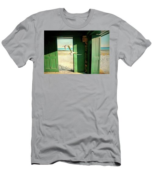 Men's T-Shirt (Slim Fit) featuring the photograph The Thruway by Diana Angstadt