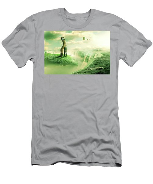 Men's T-Shirt (Slim Fit) featuring the digital art The Time Keeper by Nathan Wright